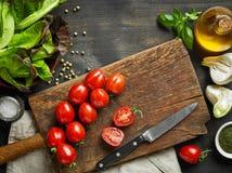 Diverse verse groenten en kruiden royalty-vrije stock afbeelding