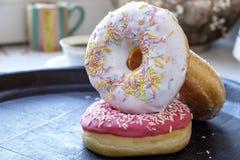 Diverse verse het landschapskant van de donutsbos Stock Afbeelding