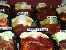 Diverse viande Images libres de droits