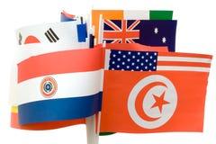 Diverse Vlaggen royalty-vrije stock foto