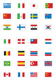 Diverse vlaggen vector illustratie