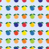 Diverse vruchten, Naadloos patroon Royalty-vrije Stock Afbeeldingen