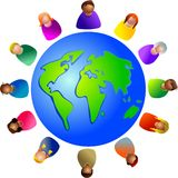 Diverse wereld royalty-vrije illustratie
