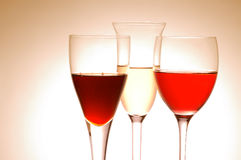 Diverse wijnglazen Royalty-vrije Stock Afbeeldingen