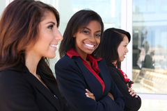 Diverse Woman Business Team. A diverse attractive woman business team at office building Royalty Free Stock Photography