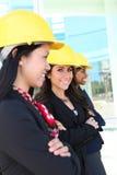 Diverse Woman Construction Team Stock Photo