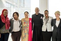 Diverse Women Together Partnership Ribbon Stock Photo
