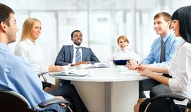 Business people working together. A diverse work group working together Royalty Free Stock Images