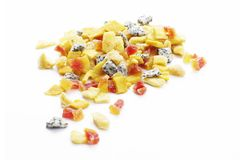 Diverse zaden en bessen, gedroogd fruit, graangewas, korrel voor goede gezondheid stock foto