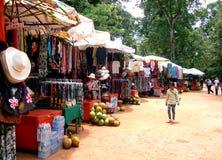 Diversehandel i Cambodja Arkivfoton