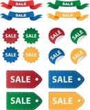 Diverses étiquettes de vente Photographie stock libre de droits