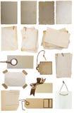 Diverses étiquettes et notes Photo stock