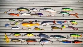 Diverses amorces pour les poissons prédateurs contagieux sur la rotation Photos stock