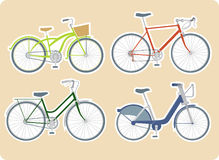 Diverses bicyclettes Photos stock
