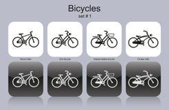 Diverses bicyclettes illustration stock