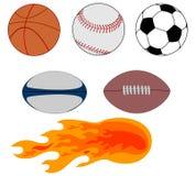 Diverses billes de sports Photos libres de droits