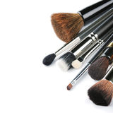 Diverses brosses de maquillage Photos libres de droits