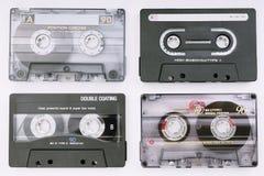 Diverses cassettes de musique photo libre de droits