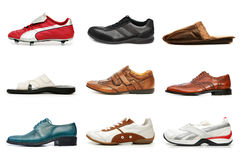 Diverses chaussures Photo libre de droits