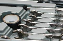Diverses clés en métal dans photographie stock libre de droits