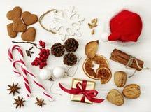 Diverses décorations de Noël Photographie stock libre de droits