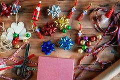 Diverses décorations de Noël Images libres de droits