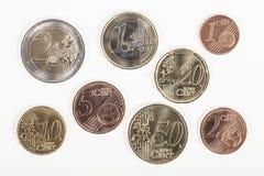 Diverses euro pièces de monnaie Photo libre de droits