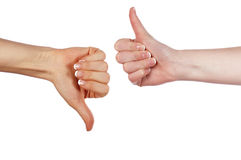 Diverses mains et paumes de signes Photo libre de droits