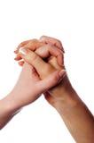 Diverses mains et paumes de signes Photo stock