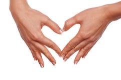 Diverses mains et paumes de signes Photos libres de droits
