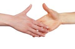 Diverses mains et paumes de signes Photographie stock