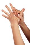 Diverses mains et paumes de signes Images stock