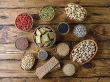 Diverses nourritures superbes Image libre de droits