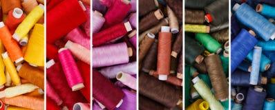 Diverses nuances des fils de couture Images libres de droits