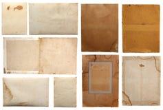 Diverses parties de papier grunges Photographie stock libre de droits