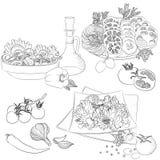 Diverses salades de schéma Photos libres de droits
