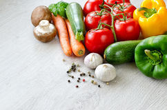 Diverses sortes de l'espace de copie de légumes Photos libres de droits