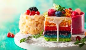 Diverses tranches de gâteaux Photos libres de droits