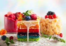 Diverses tranches de gâteaux Photographie stock