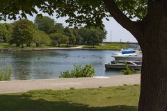 Diversey港口,芝加哥 免版税库存图片