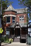 Diversey Parkway Victorian House Stock Photo