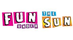 Diversión bajo Sun para la campaña del verano Foto de archivo libre de regalías