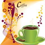 Diversión con café stock de ilustración