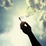 Diversión con la burbuja fotografía de archivo