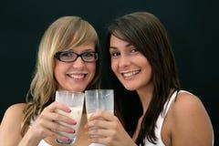 Diversión con leche Imagen de archivo libre de regalías