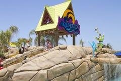 Diversión de Aquatica Waterpark en el desierto Fotos de archivo libres de regalías