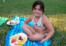 Diversión de la comida campestre Foto de archivo libre de regalías