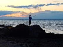 diversión de la línea de la playa Foto de archivo libre de regalías