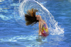 Diversión de la natación del verano Foto de archivo