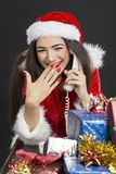 Diversión de la Navidad Imágenes de archivo libres de regalías